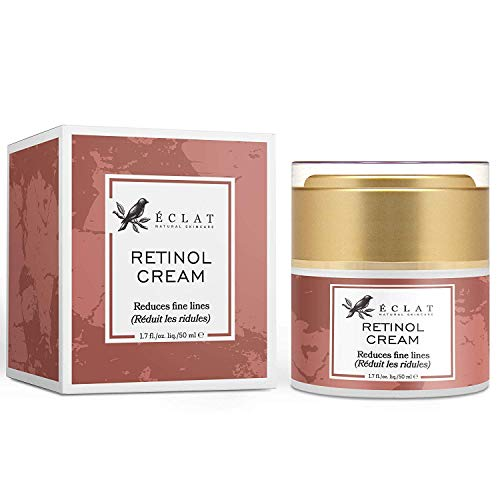 2,5% Retinol Gesichtscreme hochdosiert mit Vitamin C für ein verbessertes Hautbild - Hochwirksame Retinol Creme mit Anti-Aging Effekt - Feuchtigkeitscreme mit natürlichem Aprikosenkern und Rizinusöl