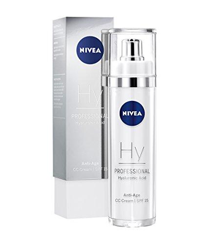NIVEA PROFESSIONAL Hyaluronsäure CC Cream LSF 15, Hyaluron Creme Anti-Aging Pflege, 1 x 50 ml