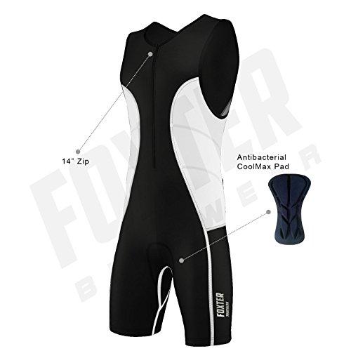 Triathlon-Anzug für Herren, Kompressionsanzug, weiß, S