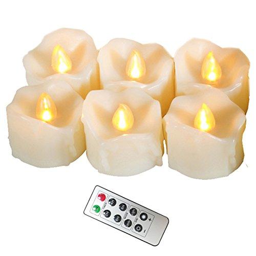 Erosway Realistisch Flackernde Teelichter LED mit Timer und 10-Tasten-Fernbedienung