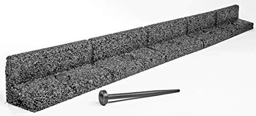 EcoShape FlexiBorder - Das Flexible Rasenkantensystem (6 x 1 Meter, Grau)