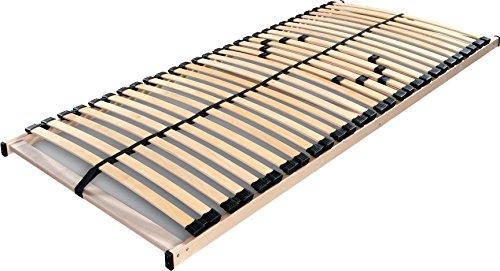 Betten-ABC Lattenrost MAX 1 NV MZV, zur Selbstmontage, mit 28 stabilen und flexiblen Federholzleisten und durchgehenden Holmen, mit Mittelzonenverstellung im Beckenbereich, Größe: 120 x 200 cm