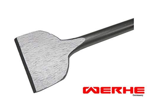 WERHE Profi SDS Plus Spatmeißel Flachmeißel 75 x 250 mm Breitmeißel Spat Flach Meißel