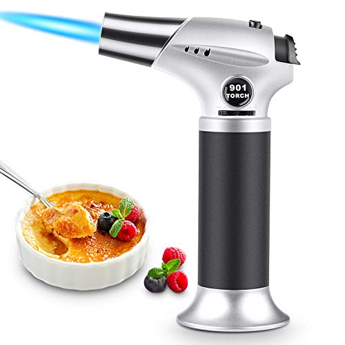 Küchenbrenne Flambierbrenner, Magicfun Nachfüllbar Butan Gasbrenner mit Sicherheitsschloss für die Küche Home Creme Brulee Gebäck Desserts Camping (Butan Inbegriffen Nicht)