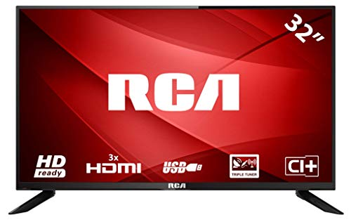 RCA RB32H1: 80 cm (32 Zoll) LED-Fernseher (HD-Ready, Triple Tuner, HDMI-Anschlüsse, CI+, Mediaplayer per USB 2.0) [Energieklasse A]