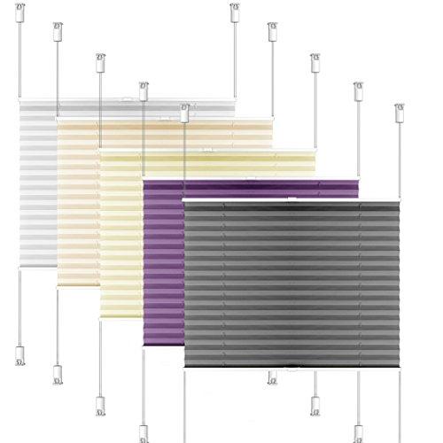 SIENOC Plissee Klemmfix Fenster Plissee Rollo Sonnenschutz Ohne Bohren Rollo Fenster & Türen inkl. Zubehör (Grau, 80x220 cm)