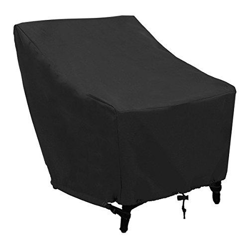 FEZBD Sofabezüge wasserdicht klassisches Zubehör Veranda Patio Lounge Chair Cover für Korbmöbel, groß