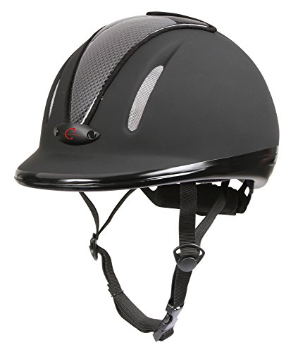 Covalliero Kinder Helm Reithelm Carbonic VG1, Anthrazit, 50-54 cm, 32720