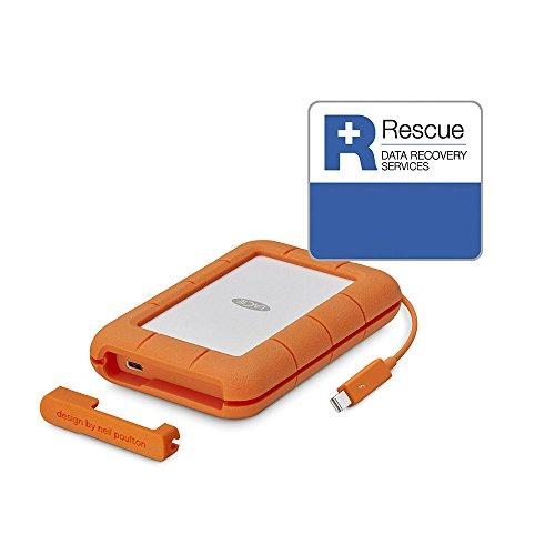 LaCie Rugged 2 TB externe tragbare Festplatte (USB 3.0, USB 3.1, USB-C, Thunderbolt)
