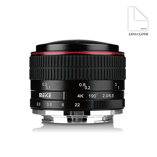Meike MK 6,5 mm f/2.0 Kreisförmige Objektiv Fisheye für Sony E-Mount Kameras