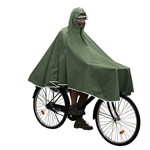 Anyoo Wasserdichter Umhang Radfahren Tragbar Leicht Regen Poncho Fahrrad Rad Kompakt Wiederverwendbar Unisex für Backpacking Camping Outdoors