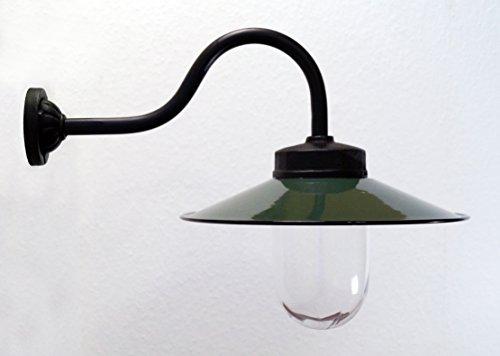 Außenleuchte nach historischem Modell, Gartenlampe, Hoflampe, Außenlampe, Landhausstil - Modell Kaprun (dunkelgrün)