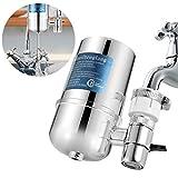 Slickbox Wasserfilter Wasserhahn, Prämie Wasser Filtersystem Tischwasserfilter mit Wasser Filterkartuschen, Küchenzubehör für Gesunder Lebensstil
