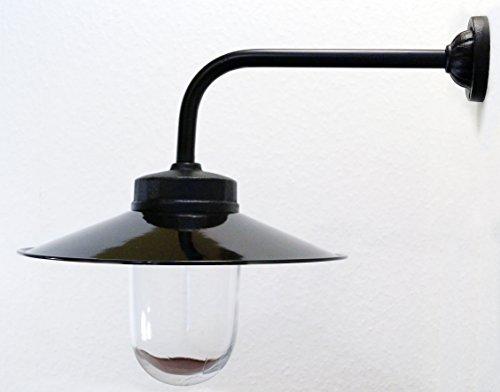 Außenleuchte nach historischem Modell, Gartenlampe, Hoflampe, Außenlampe, Landhausstil - Modell Rottach (schwarz)