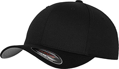 Flexfit 6277 Wooly Unisex Combed Cap, black, L/XL