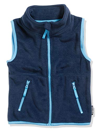 Playshoes Jungen Fleece farbig abgesetzt Weste, Blau (Marine 11), 116