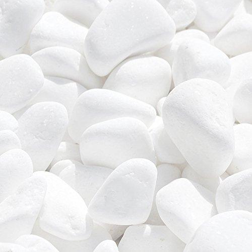 MGS SHOP Marmorkies Snow Rein Weiß Schneeweißer Garten Kies Wählbar