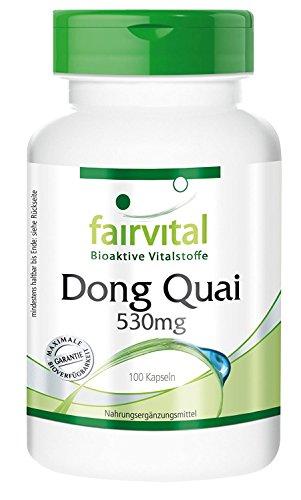 Dong Quai 530mg, Dong Quai Wurzel, Angelica sinensis, chinesischer Engelwurz, weiblicher Ginseng, 100 Kapseln - unterstützt den natürlichen Monatszyklus