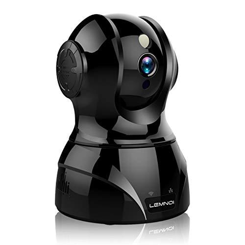 Lemnoi WLAN Kamera IP 1080P HD Überwachungskamera innen, Sicherheitskamera mit 2 Wege Audio, Nachtsicht, Bewegungserkennung,Deutscher Server APP Anleitung Support Kompatibel Alexa