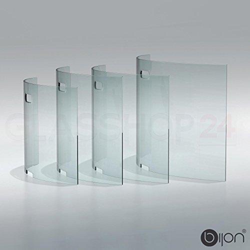 glasshop24 bijon Kamin Ofen Glas Funkenschutzgitter Funkenschutz Schutzgitter | 95x55x21cm (BxHxT)