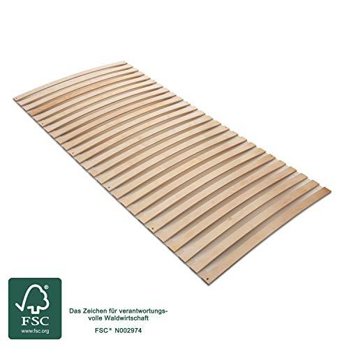 MaDeRa Natura Federleisten Rollrost, extrem stabil, aus Birkenschichtholz auch für Wohnmobile Größe 90x200