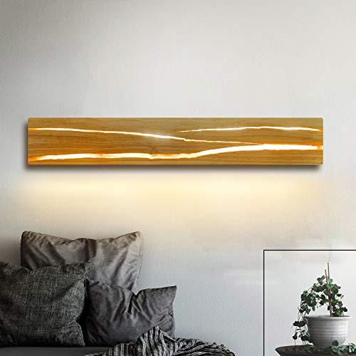 ZMH Holz Wandleuchte LED Wandleuchte innen Holz Nachtlampe Nachtlampe für Schlafzimmer Flur Treppe Innenbeleuchtung