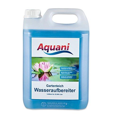 Aquani Wasseraufbereiter Gartenteich 5000ml neutralisiert schädliche Substanzen im Wasser reduziert Stress fördert die Gesundheit und Laichbereitschaft der Fische im Teich Teichpflege