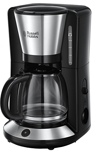Russell Hobbs 24010-56 Glas-Kaffeemaschine Adventure, 1.25l, WhirlTech-Brühtechnologie, 1100 Watt, Edelstahl/schwarz
