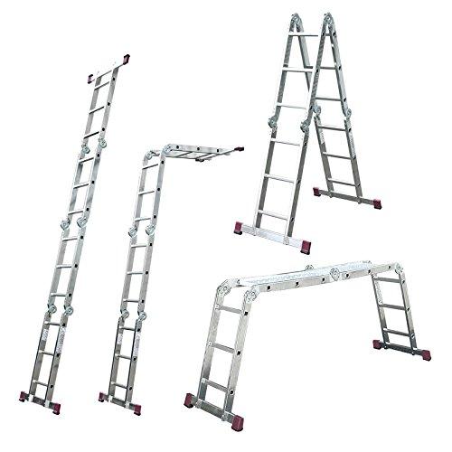 Krause Gelenkleiter Corda 4x3 Sprossen Stehleiter Brücke Gerüst