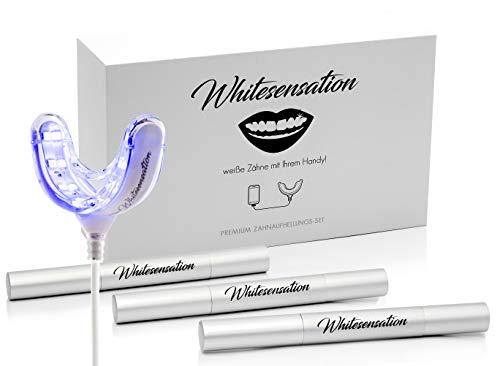 Whitesensation Zahnaufhellung Set - Professionelles Bleaching für weiße Zähne - Zahnbleaching