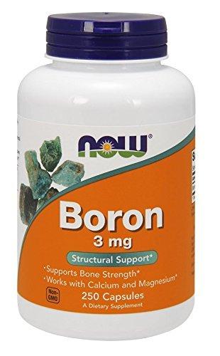 Now Foods, Boron, 3mg, 250 Kapseln