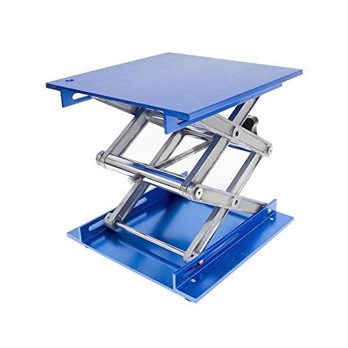 Wisamic Laborständer aus Alumina, 200 x 200 cm, Scherenhebebühne, Höhe 82-310 mm, Tragkraft 10 kg