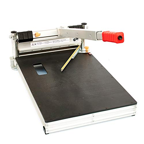Schnittbreite 325mm - Der BAUTEC PROFI Laminatschneider PLC330H - Vinylschneider - Parkettschneider inkl. 2 Klingen und Teleskophebel