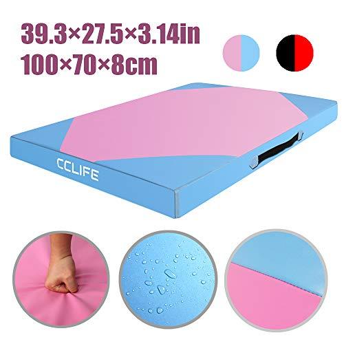 CCLIFE 100x70x8cm Himmelblau Weichbodenmatte Turnmatte Klappbar Gymnastikmatte