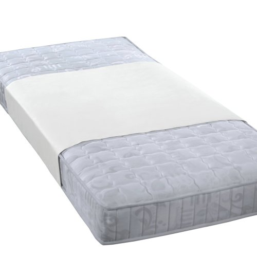 biberna 809840 wasserundurchlässiges Molton-Stecklaken 3-lagig, antibakteriell - durch SilverProtect Ausrüstung, nach Öko-Tex Standard 100, ca. 90 x 160 cm, weiß