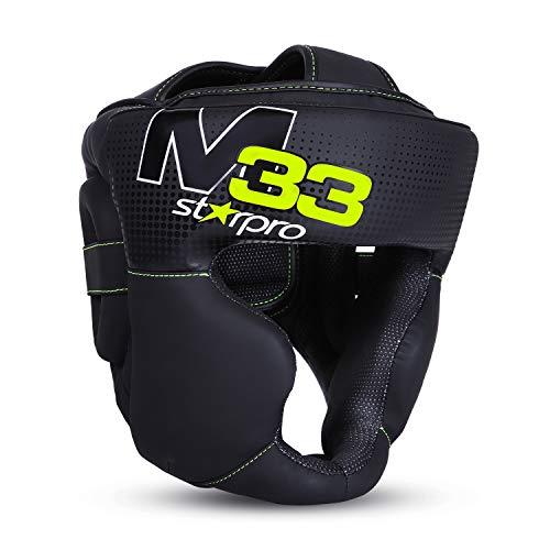 MMA Kopfschutz Boxen Gitter Muay Thai Kampfsport Boxtraining Kickboxen Sparring Kopfschützer Thai Kopfschutz mit hoher Schlagdämpfung Gesichtsschutz mit perfekter Sicht und geringer Schweißentwicklung