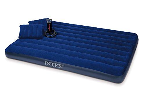 Intex Luftbett Classic Downy Blue Queen Set, blau, 152 x 203 x 22 cm/4-teilig