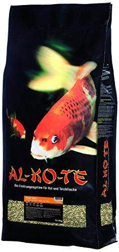AL-KO-TE, 3-Jahreszeitenfutter für Kois, Frühjahr bis Herbst, Schwimmende Pellets, 6mm, Hauptfutter Profi Mix, 13,5 kg