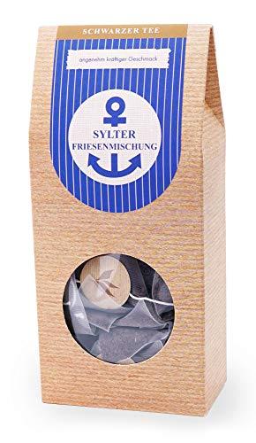 Schwarztee im Pyramidenbeutel 2er Pack kräftig Englisch Breakfast Ostfriesentee - Black Tea Sylter Friesenmischung 15 Beutel Mehr Meer Sylter Teekontor