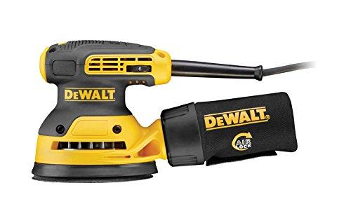 DeWalt Exzenterschleifer DWE6423 mit Absaugung, Staubfangbehälter, staubgeschütztem Schalter & Getriebegehäuse / Vibrationsarmes Schleifgerät mit kraftvollem Motor / 280W / 125mm