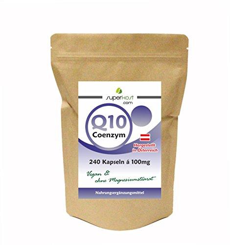 8 Monatspackung SUPERKOST Coenzym Q10 - CoQ10 - 240 Kapseln mit je 100mg pro KAPSEL HOCHDOSIERT ohne Magnesiumstearat, transparente Kapselhülle, vegetarisch
