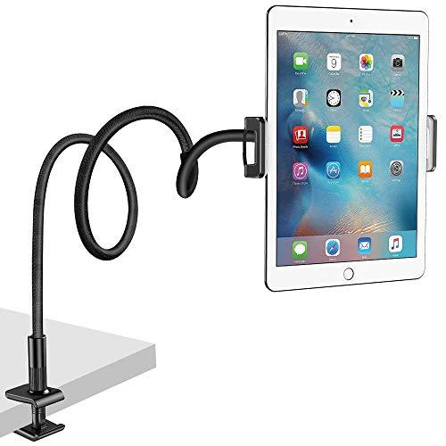 NULAXY Schwanenhals Tablet Halter, Lazy Tablet Halterung : Flexible im Bett Verstellbarer Ständer für Pad Mini 2 3 4, Neu Pad Pro 2018, Pad Air, Switch, Galaxy Tab und Andere 4,7-10,5 Zoll Geräte