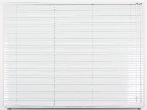 EFIXS Alu-Jalousie - Farbe: weiss - Höhe: 130cm - Breite im Angebot wählbar - hier: 160 x 130 cm (Breite x Höhe) - Aluminium-Jalousie