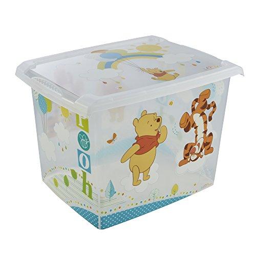 keeeper Winnie Aufbewahrungsbox mit Deckel, 39 x 29 x 27 cm, 20,5 l, Filip, Transparent