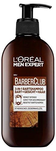 L'Oréal Men Expert Barber Club 3-in-1 Bartshampoo Bart, Gesicht und Haar, 200 ml