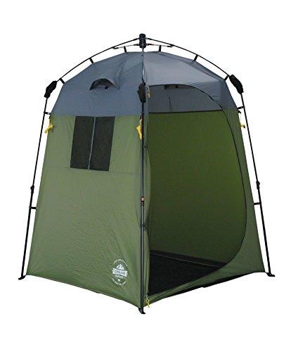 Lumaland Outdoor Pop up Duschzelt Umkleidezelt Toilettenzelt Stehzelt Camping 155x155x220 cm Robust Grün