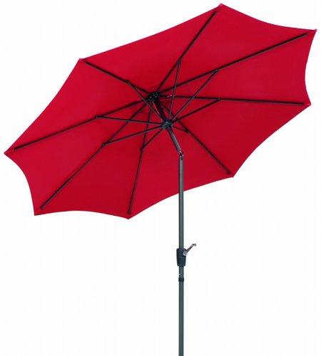 Schneider Sonnenschirm Harlem, rot, 270 cm rund, Gestell Aluminium/Stahl, Bespannung Polyester, 5 kg