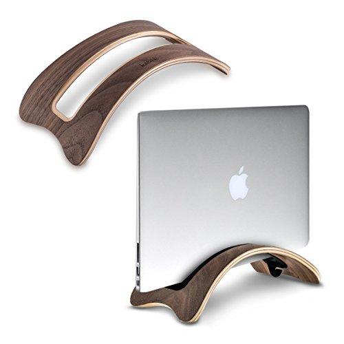 kalibri Laptop Ständer Notebook Stand - Halterung aus Holz für MacBook Air 13''/Pro Retina 13''/15''/ Pro 13'/15' Tablet iPad - in Walnussholz braun
