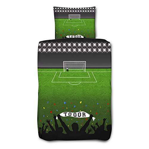 Julido Microfaser Bettwäsche 135x200+80x80 Fußball Toooor
