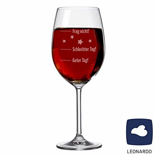 XL Jumbo Weinglas 'Guter Tag, schlechter Tag...' - Stimmungsglas - Weinglas - groß - mit Spruch - Geschenk -Weihnachtsgeschenk - Geburtstagsgeschenk - Geschenkidee